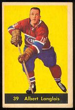 1960 61 PARKHURST HOCKEY #39 ALBERT LANGLOIS VG-EX MONTREAL CANADIENS CARD