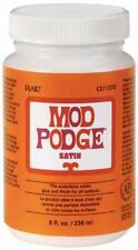 Mod Podge 8 oz Satin Waterbase Sealer, Glue and Finish, Clear