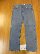 used Levi 501 feathered grunge jean tag 38x34 meas 36x32.5 20498F