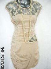 Clubwear Regular Size Dresses Round Neck