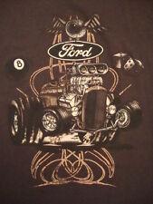 Ford Motor Company Hot Rod Drag Racer Big Block Chopped Car T Shirt M