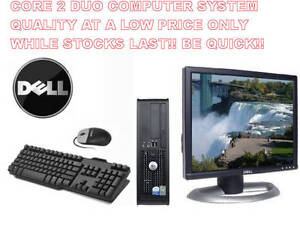 """COMPLETE SYSTEM INTEL CORE 2 DUO 2.8GHZ 4GB 160GB HDD DVDRW 17"""" LCD WIN 7 PRO"""