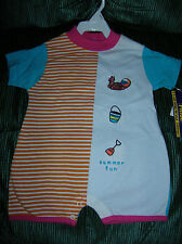 INFANT  SIZE (O-3MO.) ONE PIECE OUT FIT WITH SNAP BOTTOM.