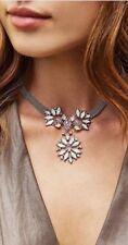 Kendra Scott Isabella Choker Statement Necklace Silver & Howlite Zellige Opalite