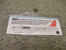 Draw decals 1/144 Set 20/44s-A3N-23 Northwest A319    G120