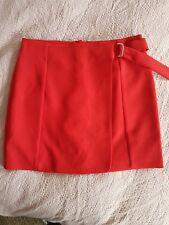 New Look Red Wrap Belt Detail Skirt Size 12 BNWT