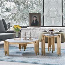Set 2er Set Side Couch Tables Magazine Designer Marble Table Round