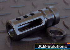 1/2x28  9mm muzzle brake with free crush washer. Custom Made in the U.S.A.