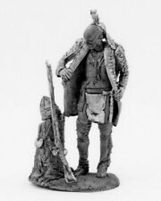 Tin toy soldier Indian Iroquois, 1755. Metall sculpture 54 mm