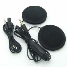 Motorcycle Helmet Earphone/Headset Stereo Speakers 4 Black MP3 Music Device