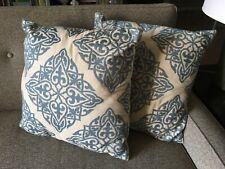 """New Target Home Toss Pillows Blue Filigree Pattern, 20"""" Square, Set of 2"""