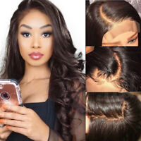 Quality Dark Brown Lace Front Wig 100% Real Remy Human Hair Full Wigs Glueless V