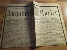 Anhalter Kurier #65 vom 16.03.1888 Kaiser Wilhelm I. gestorben - Dreikaiserjahr