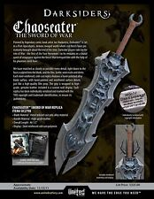 RARE Darksiders Chaos Eater Sword Museum Replica LE#405/600 United Cutlery NEW