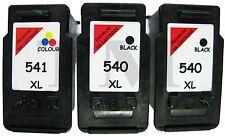 2 X PG-540XL & 1 X CL-541XL Black & Colour 3 Pack Ink fits Canon Pixma MX375