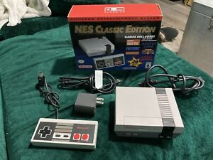 Authentic NES classic w/ original box modded with 500+ extra games Multi Systems