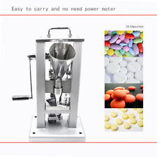 TDP-0 SINGLE PUNCH TABLET PRESS WITH HOPPER MANUAL TYPE PILL MAKING MACHINE