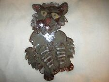 New Large Pottery Crazy Cat Wall Hanging Figure by Wild Acorns Pottery