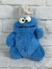 """1970s Knickerbocker Plush COOKIE MONSTER 8"""" Rattle Eyes Sesame Street VTG Toy"""