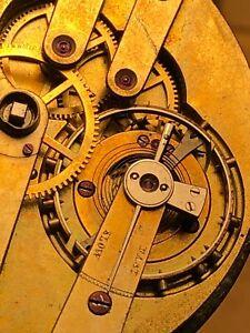 Antique High Grade 43 mm pocket watch movement duplex escapement good balance