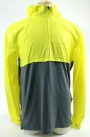 Under Armour NWT $60 Men's Hooded Jacket WIndbreaker Size Large Gray Yellow
