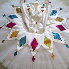 Professional White Ballet Tutu Costume Harlequinade Columbina Custom MTO YAGP