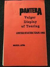 Pantera MEGA RARE 1992 US TOUR ITINERARY BOOK Vulgar Display of Power Dimebag