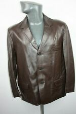 Mens vintage Philmar Clad Brown Leather Jacket with lining Size M VGC Retro