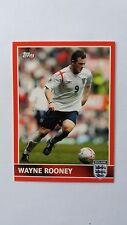 Wayne Rooney 2005 tarjeta de Topps Inglaterra