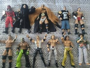 WWE WWF Maximum Aggression 12 Inch Figure  Lot with 4 Metal Belts & Clothing.