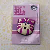 Bagpuss Pin Badge on Backing Card Rubber Asthma Charity 30th Anniversary