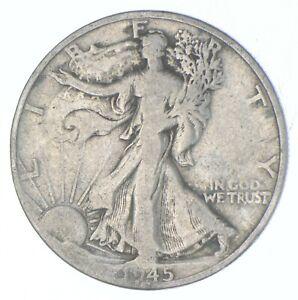 Better 1945-D - US Walking Liberty 90% Silver Half Dollar Coin Set Break *815
