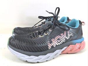 HOKA ONE ONE ARAHI Women's Running Shoes Size 7.5 Black Teal Blue