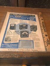 Eico Paper Advertisment Vintage Magazine Ad Blue & Red