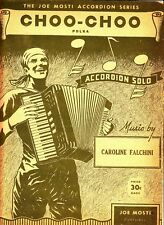Choo-Choo Polka Caroline Falchini 1945 Vintage Accordion Sheet Music