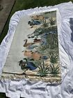 """Embroidered Duck Tapestry 46"""" X 76"""""""