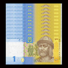 Lot 10 PCS, Ukraine 1 Hryven, P-116, UNC