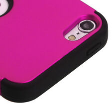 iPod Touch 5th / 6th Gen Hot Pink High Impact Armor Hard&Soft Rubber Hybrid Case
