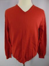 J Crew Men's Large V Neck Pullover Knit Casual Sweater Shirt LS Cotton Cashmere