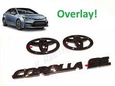 New Gloss Black Emblem Overlays For 2020 2021 Toyota Corolla Se Pt948 02201 02