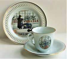Bing & Grondahl Carl Larssons Cup, Saucer & Cake Plate - Window Flowers