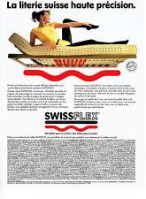Publicité Advertising 108 1988   sommier matelas à lattes Swissflex