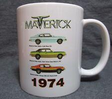 1974 Ford Maverick Line Coffee Cup, Mug - Cool 70's Classic - New - Sharp!