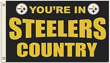 Pittsburg Steelers Huge 3'x5' NFL Licensed Country Flag / Banner - Free Shipping