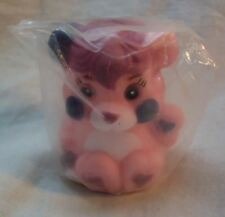 "1986 VINTAGE Popples PINK PARTY POPPLE PLASTIC FINGER PUPPET 2"" Toy NEW"