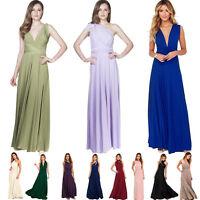 Convertible Multi Way Wrap Bridesmaid Wedding Evening Formal Dresses 6 8 10 12