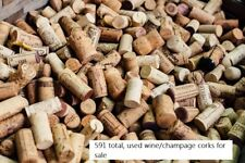 Natural USED Wine/Champagne Corks box of 591 count, Craft, ship or local p/u