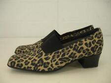 Womens 7.5 M Sesto Meucci Yasemin Waterproof Leopard Print Pumps Shoes Low Heels