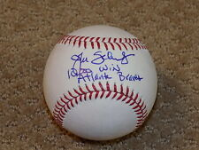John Schuerholz OML Signed Autographed Baseball Atlanta Braves HOF Inscription