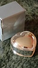 Silver plated heart shaped Trinket Box.  Brand new in box.